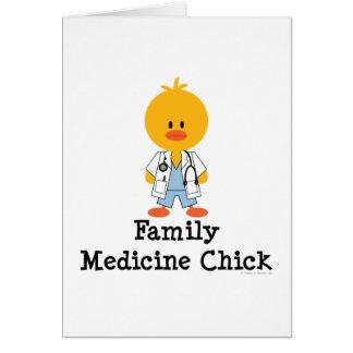 Kort för hälsning för familjmedicinchick