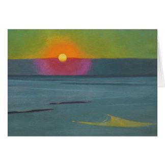 Kort för hälsning för Félix Vallotton solnedgång