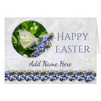 Kort för hälsning för glad påskfjäril hälsningskort