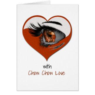 Kort för hälsning för kärlek för ChowChow