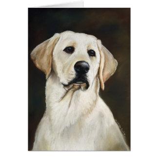 Kort för hälsning för konst för hund för Labrador