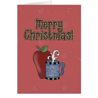 Kort för hälsning för lärare för julsamling bäst