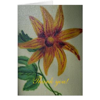 Kort för hälsning för målning för tackgultblomma