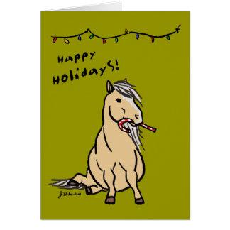 Kort för hälsning för ponnyhelgdagjul