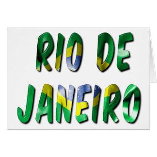 Kort för hälsning för struktur för Rio de Janeiro