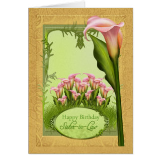 Kort för hälsning för svägerskaliljafödelsedag
