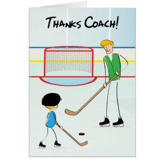 Kort för hälsning för tackhockeylagledare (från