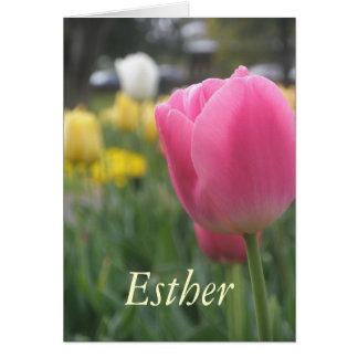 Kort för hälsning för tulpan för Esther flickor