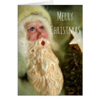 Kort för hälsning för vintagestilSanta jul