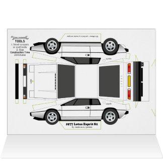 Kort för hälsningar för Esprit klassikerbil