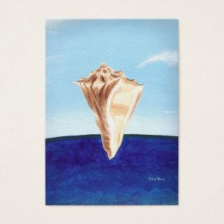 Kort för handel för konstnär för snäckskalhavblått
