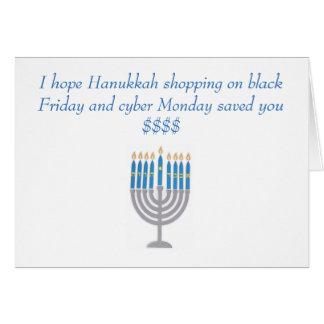 Kort för Hanukkah humorhälsning