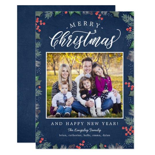Kort för helgdag för BAKGRUND för jullövverk 12,7 X 17,8 Cm Inbjudningskort