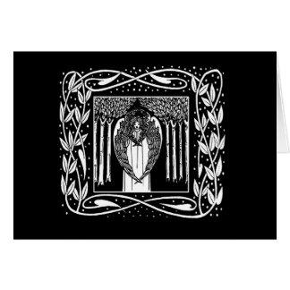 Kort för helgdag för Beardsley art nouveauängel