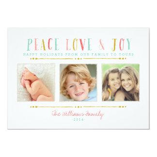 Kort för helgdag för Collage för fredkärlek- och 12,7 X 17,8 Cm Inbjudningskort