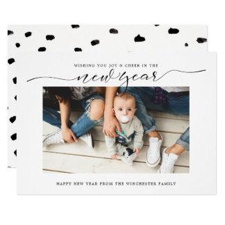 Kort för helgdag för nytt år för glädje & för 12,7 x 17,8 cm inbjudningskort