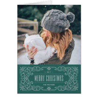 Kort för helgdag för Snowflakekrusidullram -