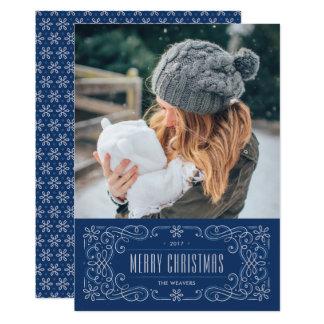 Kort för helgdag för Snowflakekrusidullram - 12,7 X 17,8 Cm Inbjudningskort