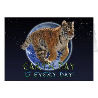 Kort för hotade arter för dag för tigerungejord