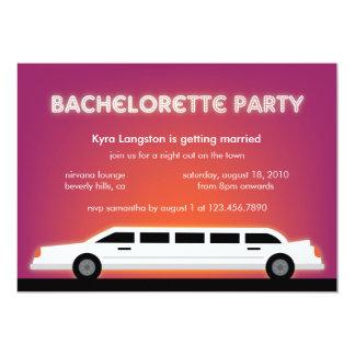 Kort för inbjudan för Bachelorette partyLimo