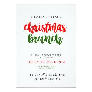 Kort för inbjudan för julhelgdagfrunch