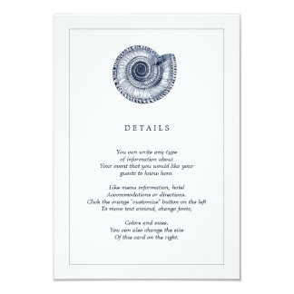 Kort för information om bröllop för strand för 8,9 x 12,7 cm inbjudningskort