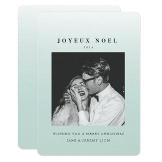 Kort för Joyeux Noel Ombre julfoto 12,7 X 17,8 Cm Inbjudningskort