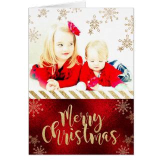 Kort för julfotohälsning