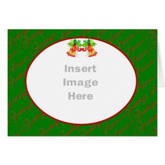 Kort för julfotomall