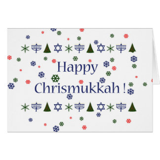 Kort för julHanukkah Combo hälsning Hälsningskort
