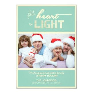 Kort för julhelgdagfoto 12,7 x 17,8 cm inbjudningskort
