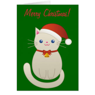 Kort för julkatthälsning