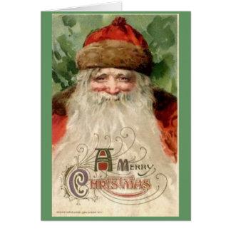 Kort för jultomtenvintagejul