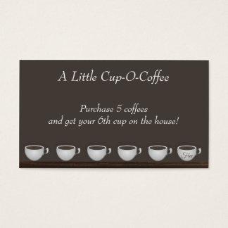 Kort för kaffebesparingslojalitet
