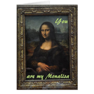 Kort för kärlek för Monalisa Mona Lisa
