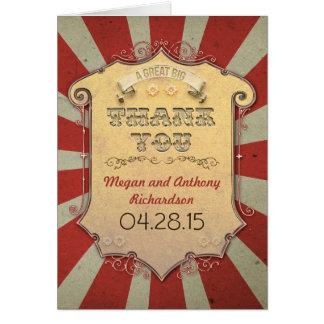 Kort för karnevalbrölloptack