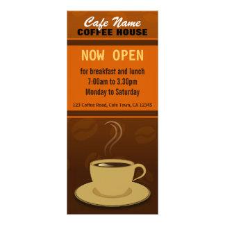 Kort för kugge för Cafe för kopp för kaffe för Rackkort Med Full Färg