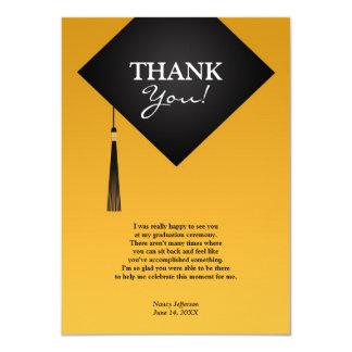 Kort för lägenhet för hatt för tackstudentensvart 11,4 x 15,9 cm inbjudningskort