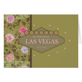 Kort för Las Vegas bröllopblommigt