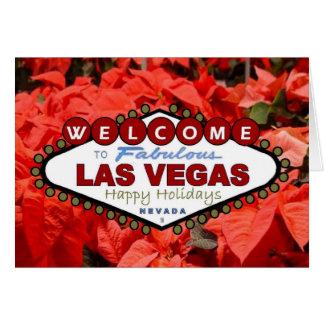 Kort för Las Vegas glad helgjulstjärnor