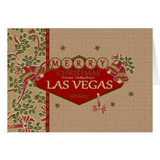 Kort för Las Vegas god julMistletoe