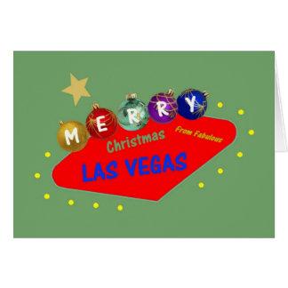 Kort för Las Vegas god julprydnad