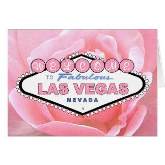 Kort för Las Vegas rosa rosmeddelande