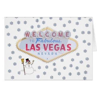 Kort för Las Vegas snögubbeglad helg