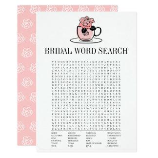 Kort för lek för sökande för ord för 12,7 x 17,8 cm inbjudningskort