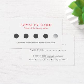 Kort för lojalitet för skönhet för enkla eleganta