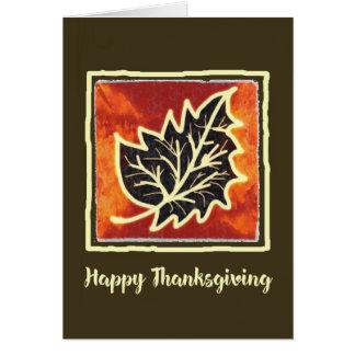 Kort för målning för thanksgivinghöstlöv
