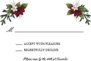 56d1698aedba Kort för Marsala blom- vinterbröllop OSA 8,9 X 12,7 Cm Inbjudningskort