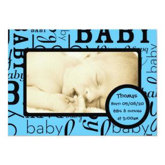 Kort för meddelande för anpassadebaby med 12,7 x 17,8 cm inbjudningskort