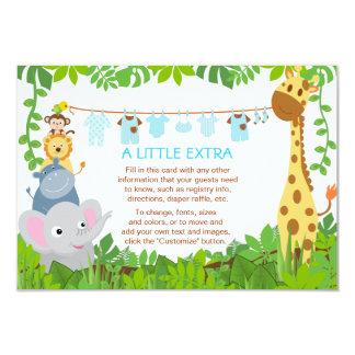 Kort för mellanlägg för baby shower för pojke för 8,9 x 12,7 cm inbjudningskort